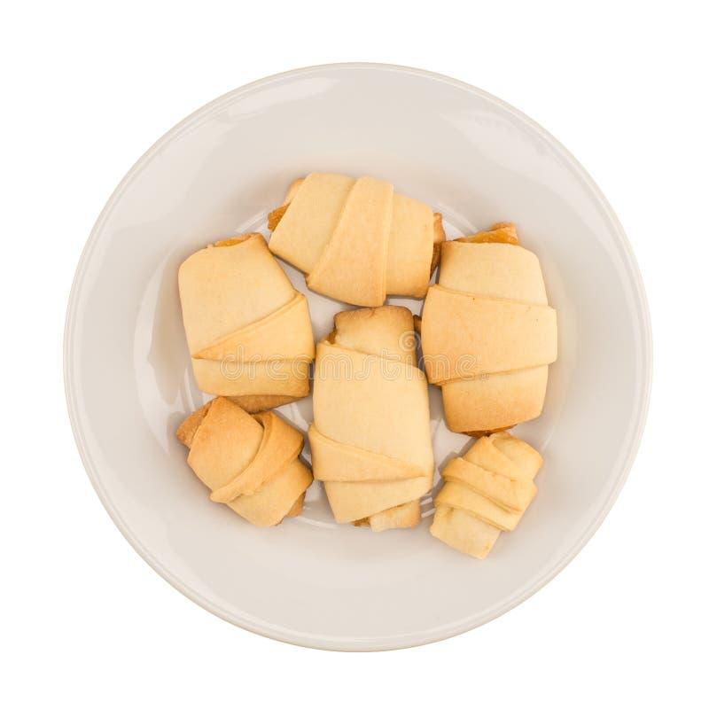 Le plat des biscuits fabriqués à la main avec la confiture image libre de droits