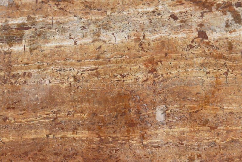 Le plat est fait de marbre brun avec des filets d'une couleur nuances blanc brunâtre Texture douce pour la conception et la décor image libre de droits