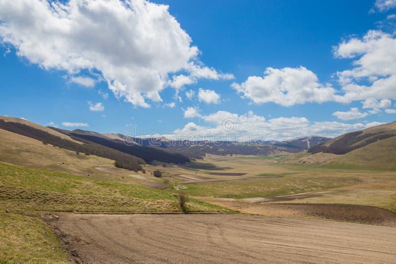Le plateau de Castelluccio di Norcia photo stock