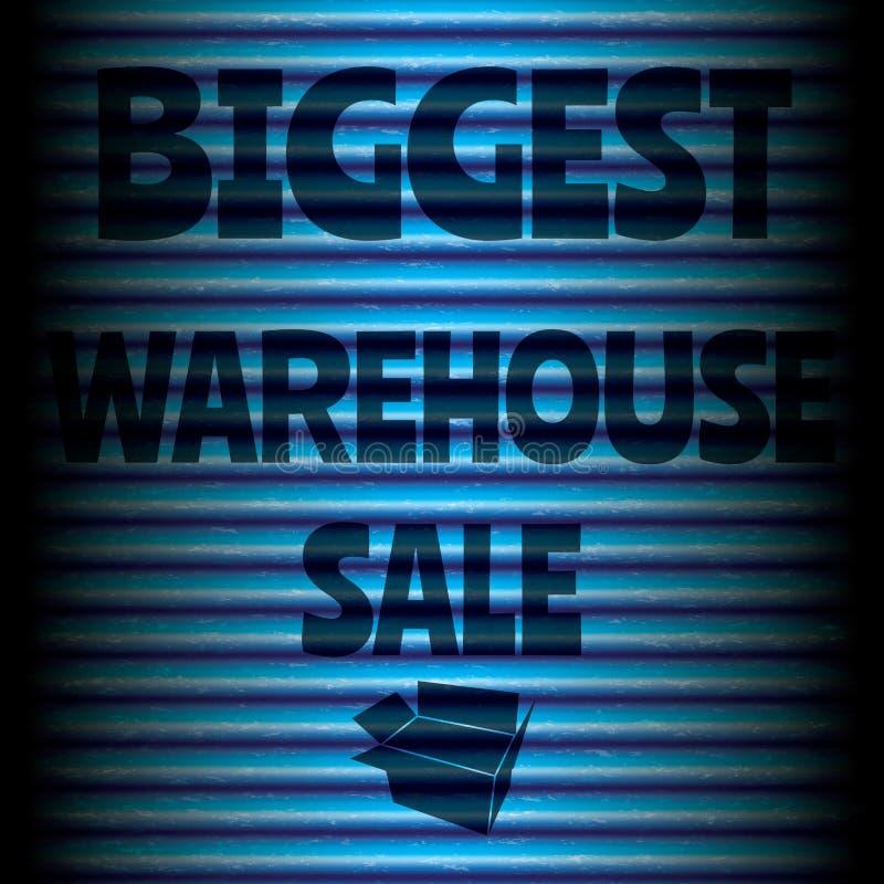 Le plus grand bleu de vente d'entrepôt illustration libre de droits