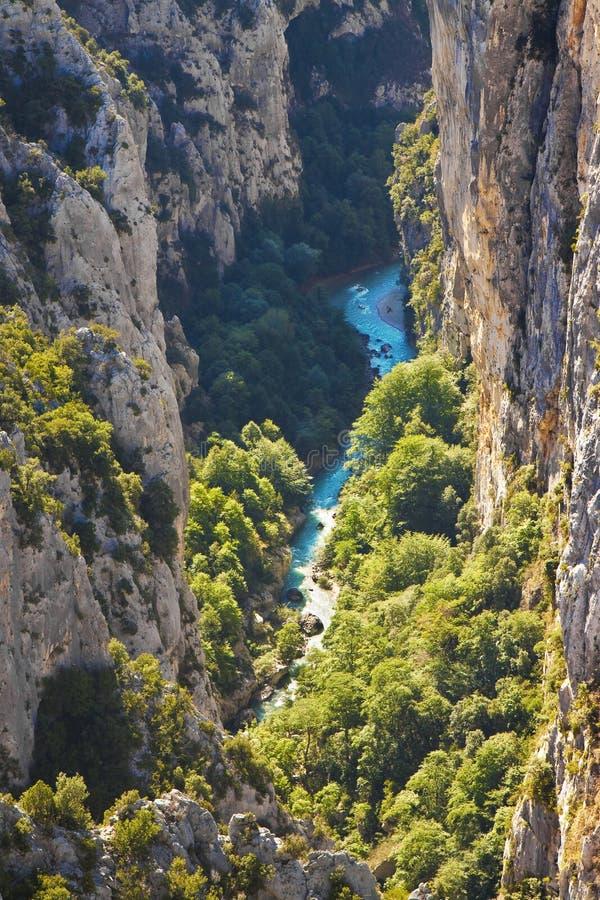 Le plus grand canyon européen a appelé des gorges Europe-France-Provence de Verdon photos libres de droits