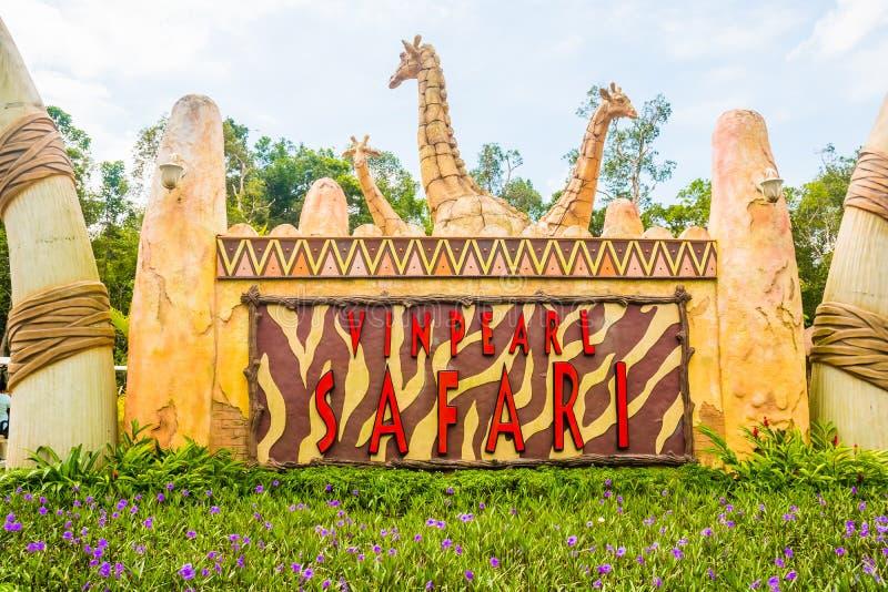 Le plus grand parc zoologique en parc du Vietnam - de Vinpearl Safari Phu Quoc avec la flore exotique et la faune, Phu Quoc, Viet photos stock