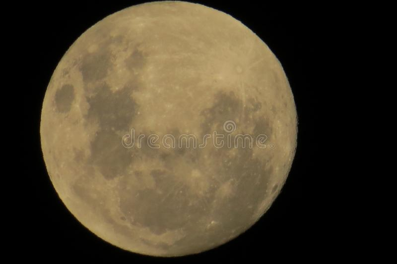Le plus grand Supermoon images stock