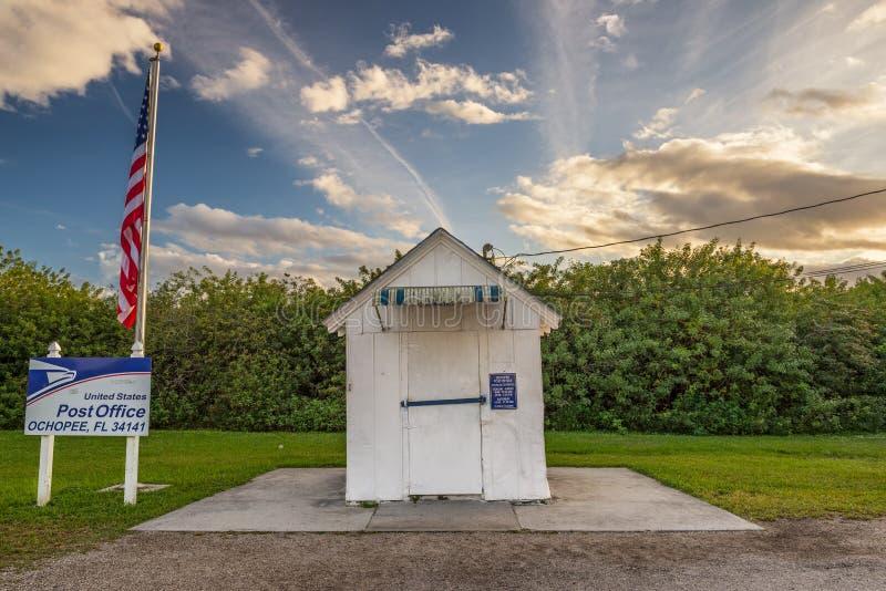 Le plus petit bureau de poste aux Etats-Unis, Ochopee, la Floride images libres de droits