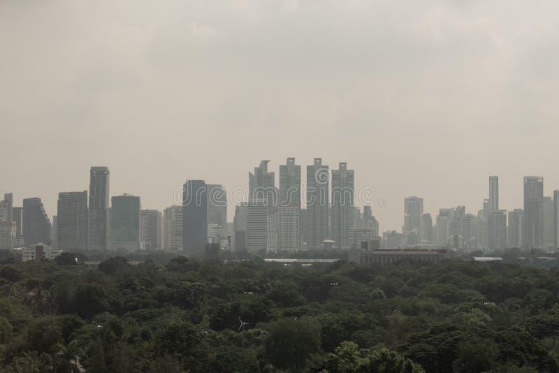 Le PM 2 5 pollutions dans la ville de Bangkok, Thaïlande, 1 octobre 2019 photographie stock libre de droits