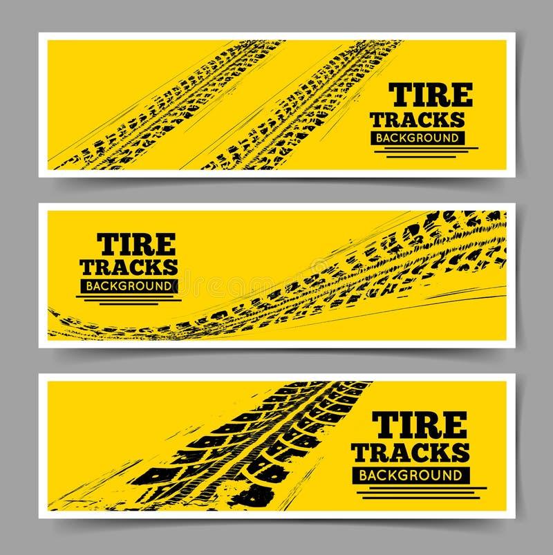 Le pneu dépiste le fond illustration de vecteur