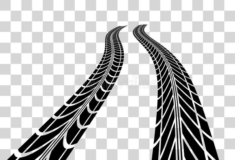 Le pneu dépiste le vecteur illustration libre de droits