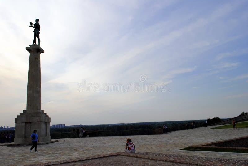 Le Pobednik le monument de Victor à Belgrade, Serbie image libre de droits