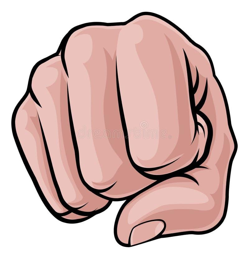 Le poinçon de poing frotte avec le poing la main illustration libre de droits