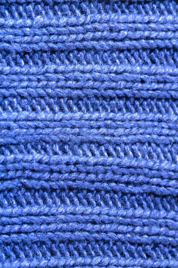 Le Point Bleu De Nervure Ou De Cble A Tricot Le Fond De