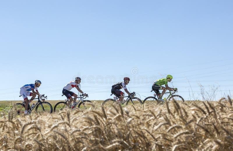 Le point d'interruption dans la plaine - Tour de France 2016 photographie stock