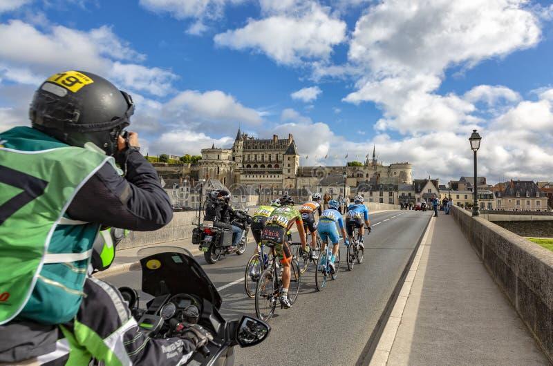 Le point d'interruption et les Paris-visites 2017 de château d'Amboise photos libres de droits