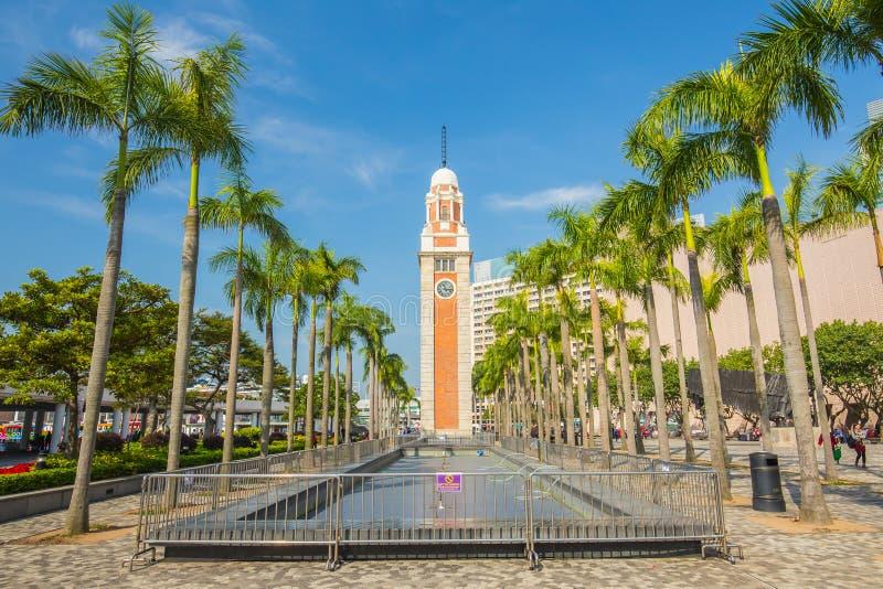 Le point de repère de tour d'horloge de Hong Kong photo stock