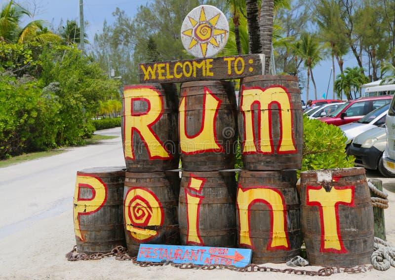 Le point Grand Cayman de rhum images stock