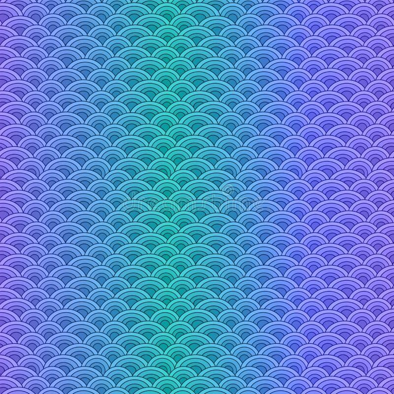 Le poisson de mer mesure le modèle sans couture simple dans des couleurs en pastel douces illustration de vecteur