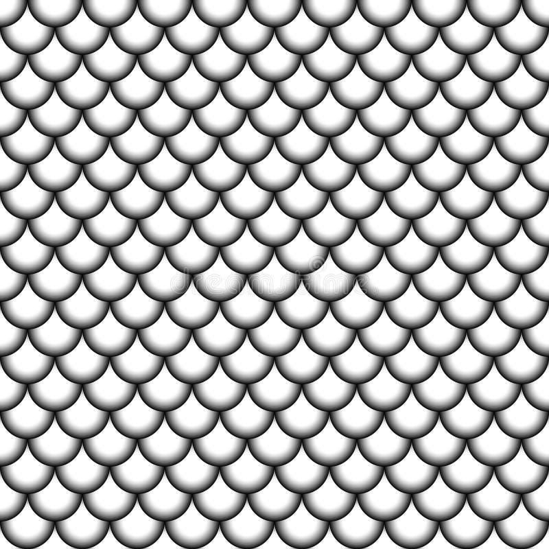 Le poisson sans couture de modèle mesure les cercles sans couture de style de fond asiatique de vecteur avec le gradient noir et  illustration stock