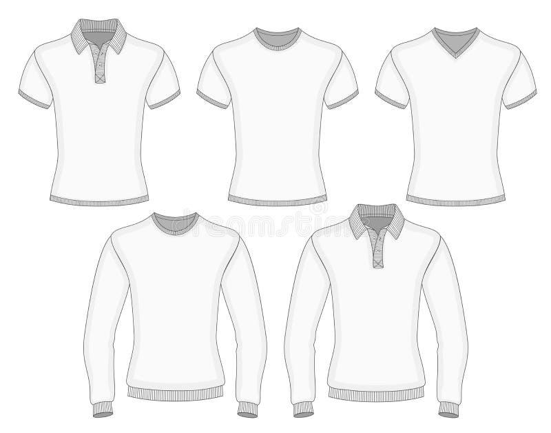 Le polo et le T-shirt des hommes illustration libre de droits