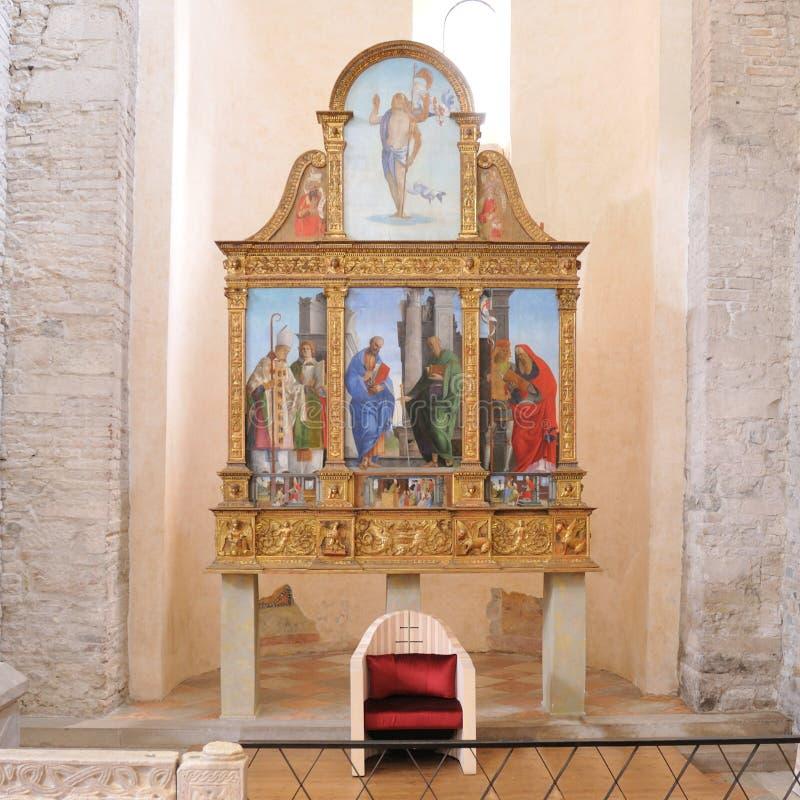 Le Polyptych d'Aquileia photo stock