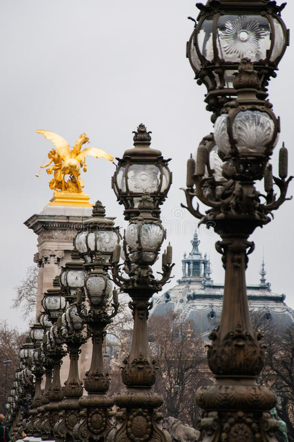 Le Pont Alexandre III photographie stock