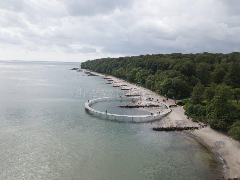 Le pont d'infini à Aarhus, Danemark photo stock