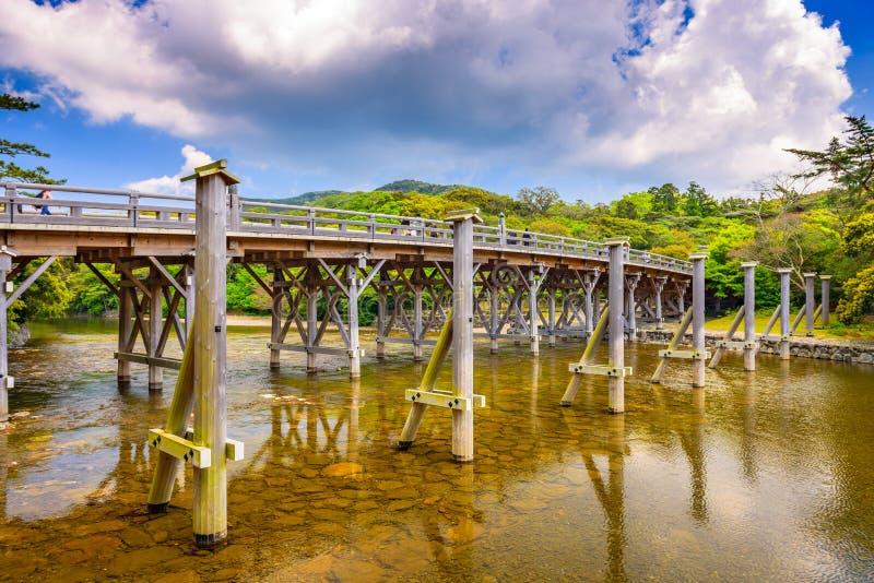 Le pont d'Uji d'Ise, Japon image stock