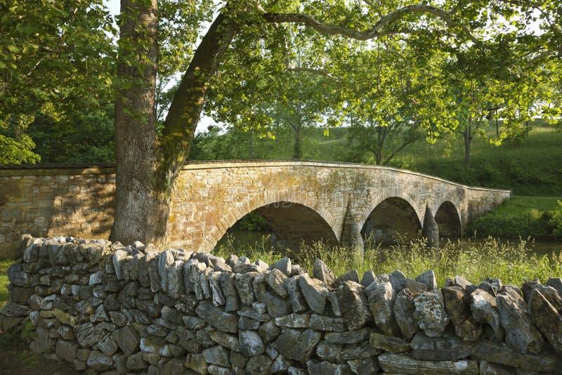 Le pont de Burnside au champ de bataille d'Antietam (Sharpsburg) dans Maryla photographie stock