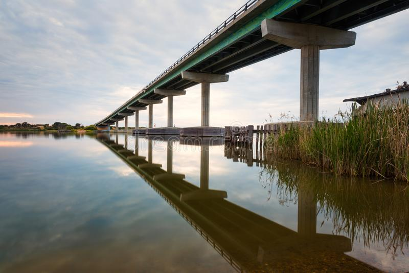 Le pont de Hindmarsh entre Goolwa et île de Hindmarsh dans Sout photo stock