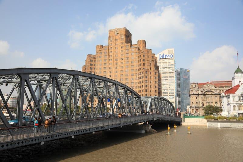 Le pont de jardin à Changhaï photographie stock