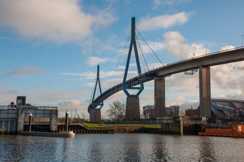 Le pont de Koehlbrand photographie stock libre de droits