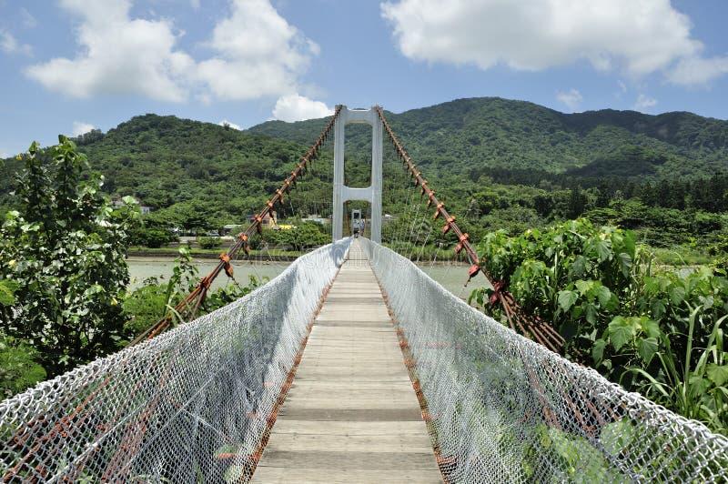 Le pont de l'amant dans Kenting photo libre de droits