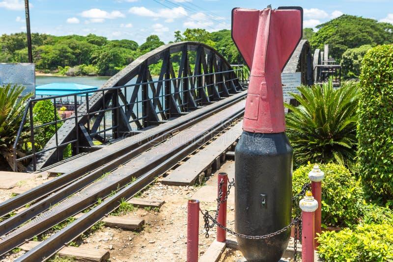 Le pont de la rivière Kwai, Kanchanaburi, Thaïlande photographie stock