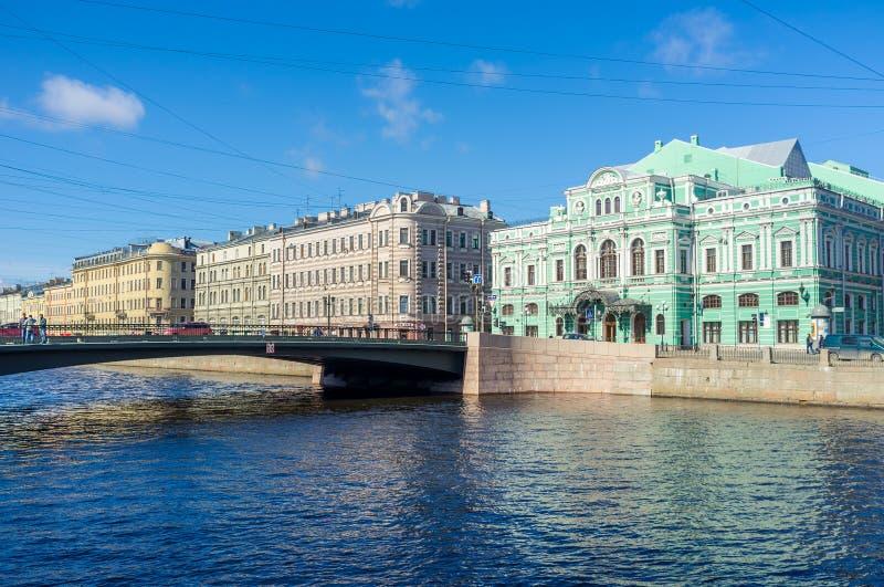 Le pont de Leshtukov photo stock