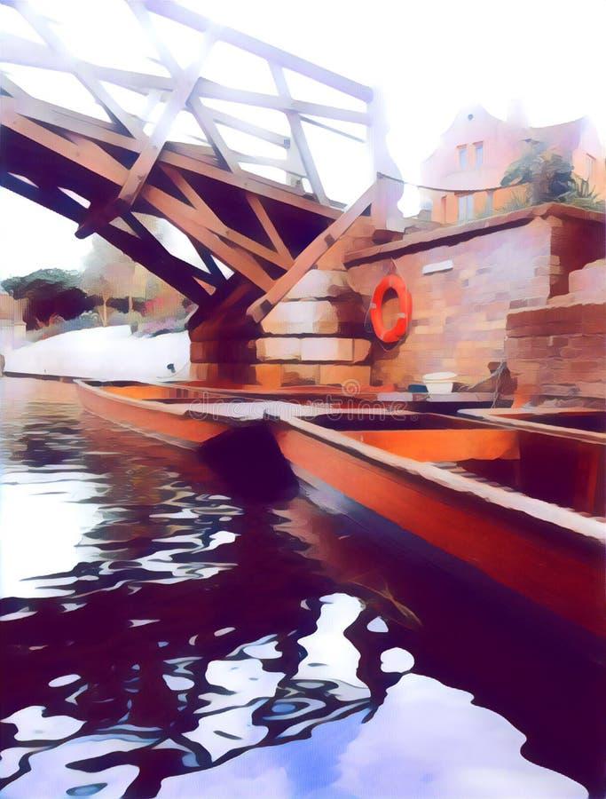 Le pont de Mathimatical photographie stock