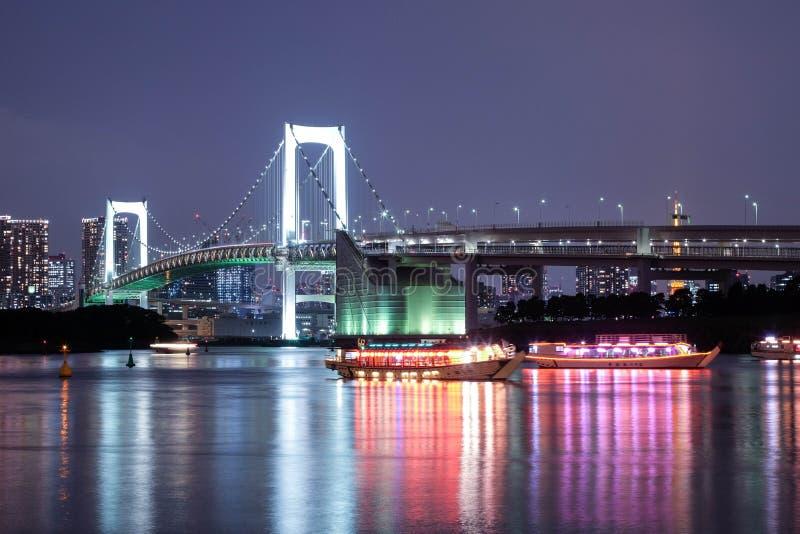 Le pont en arc-en-ciel à Tokyo image stock