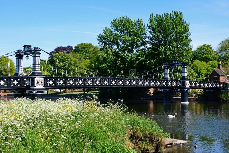Le pont en ferry, Burton sur Trent image stock