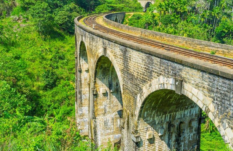 Le pont exceptionnel dans Sri Lanka photos libres de droits