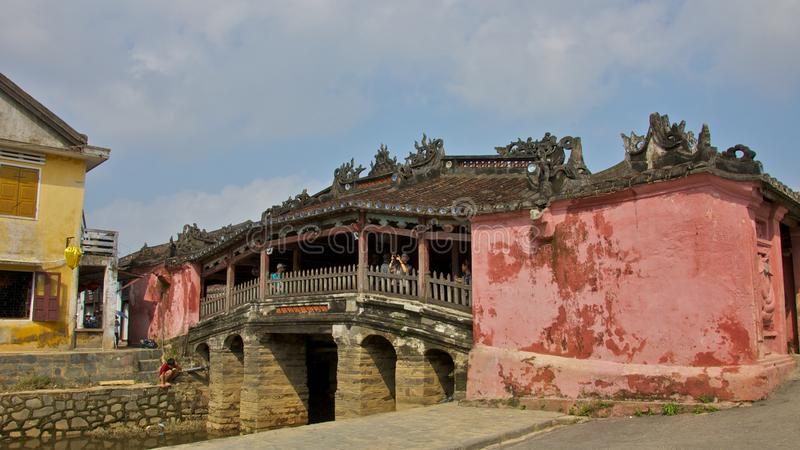 Le pont japonais en Hoi An Ancient Town photo stock