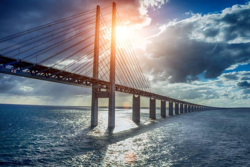 Le pont Oresundsbron image libre de droits
