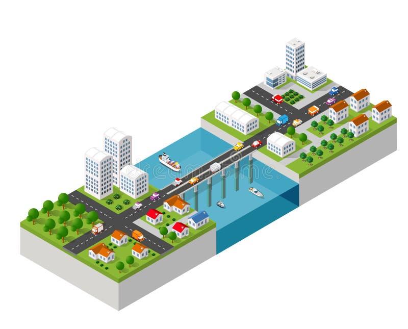 Le pont skyway illustration de vecteur