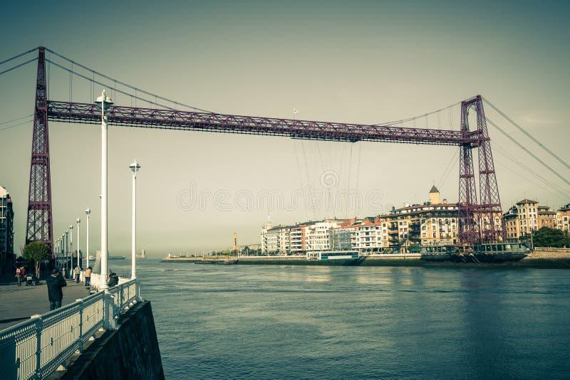 Le pont suspendu de Bizkaia à Portugalete, Espagne photo libre de droits