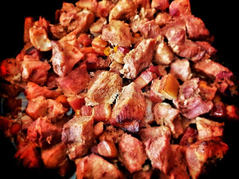 Le porc a rôti la fin de viande, des jambières de porc photographie stock libre de droits