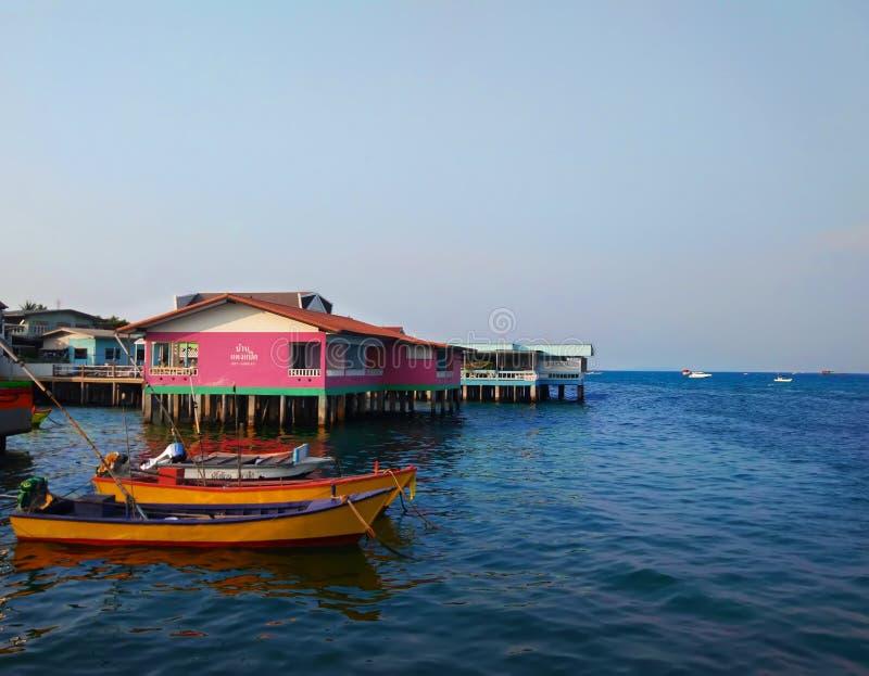 Le port à l'île de Koh Lanta en Thaïlande photo stock
