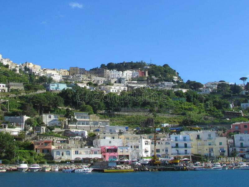 Le port chez Capri image stock