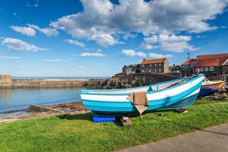 Le port chez Craster dans Morthumberland images libres de droits