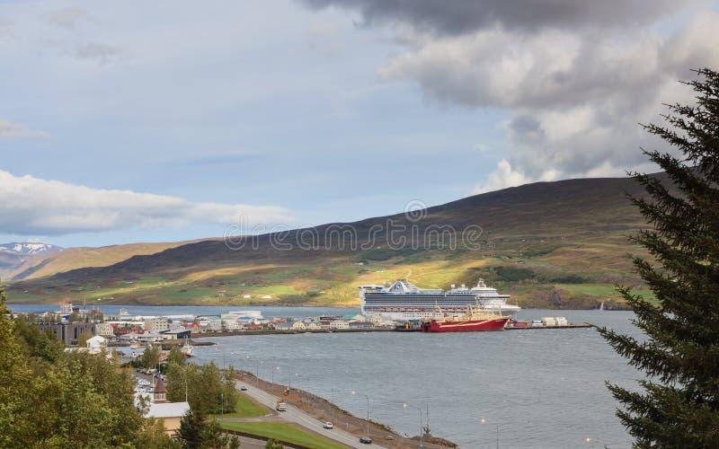 Le port d'Akureyri photo stock