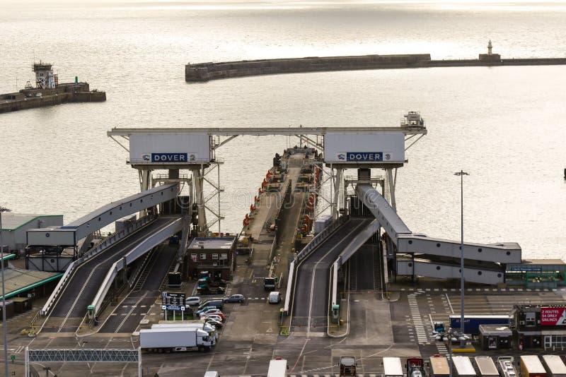 Le port de Douvres en Kent United Kingdom photographie stock libre de droits