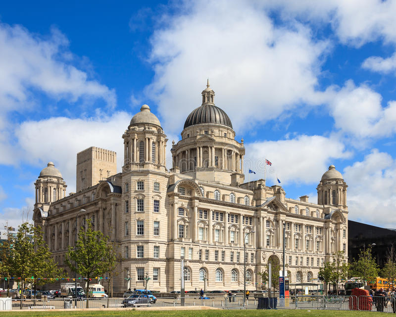 Le port de la construction de Liverpool images stock