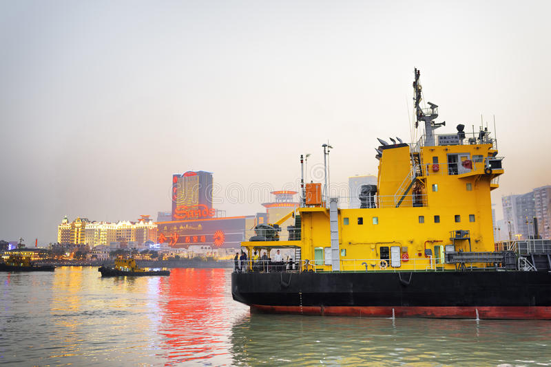 Le port de Macao photo libre de droits
