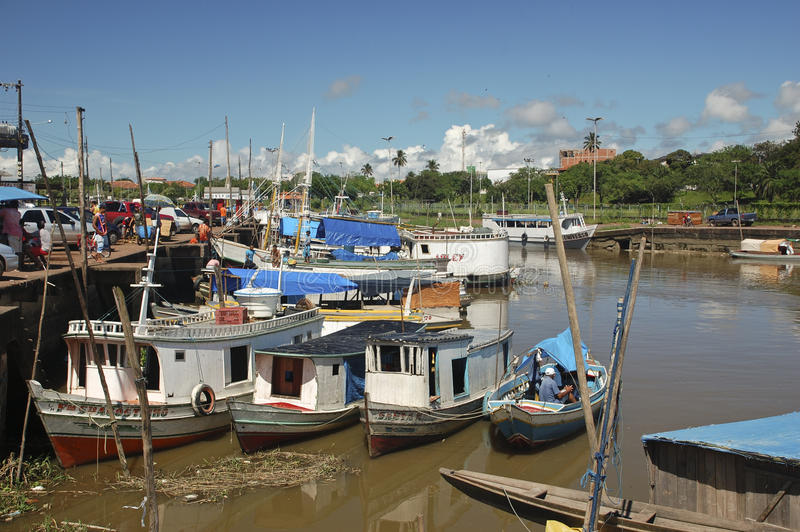 Le port de Macapa en Amazonie photo stock