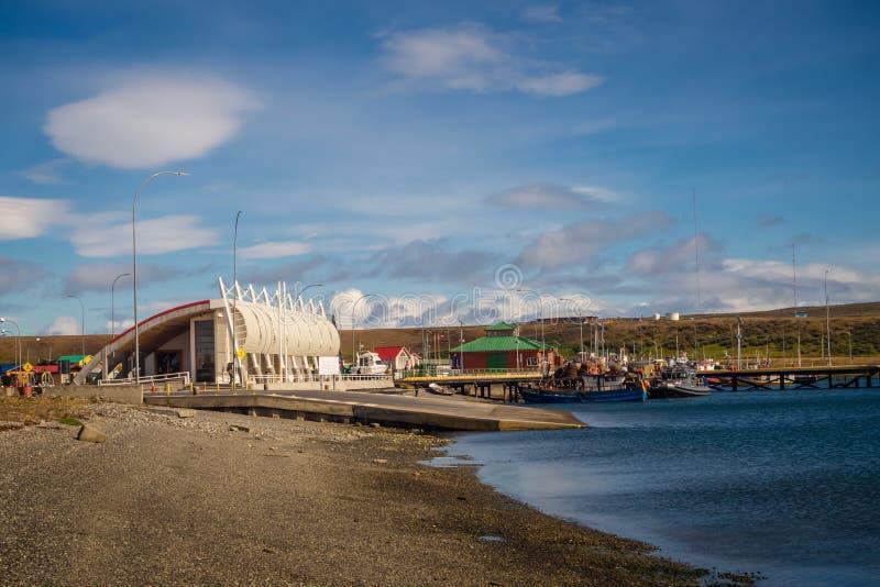 Le port de Porvenir, Tierra Del Fuego, Patagonia, Chili images stock